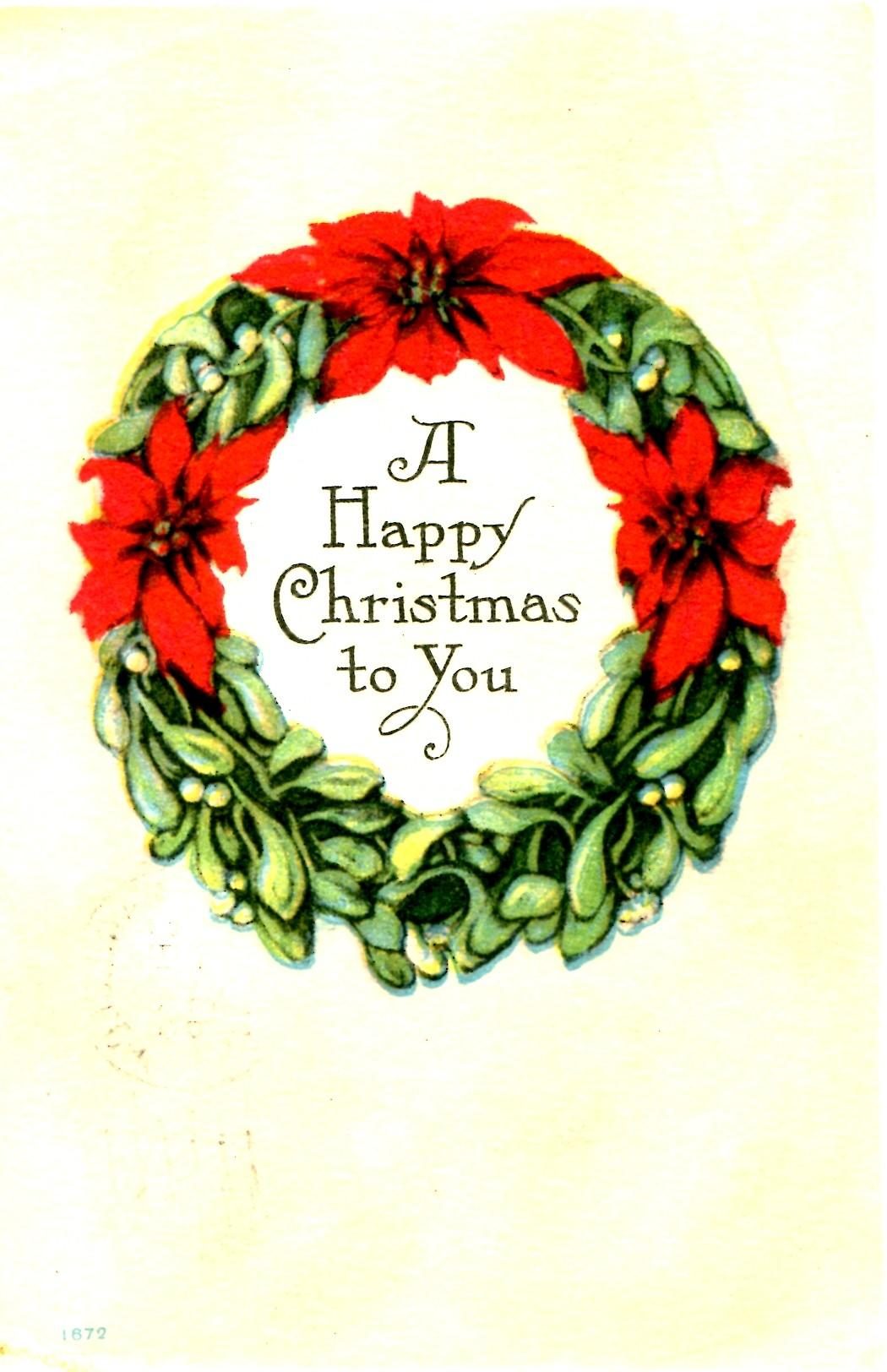 Wishing Merry Christmas Vintage Crafts More