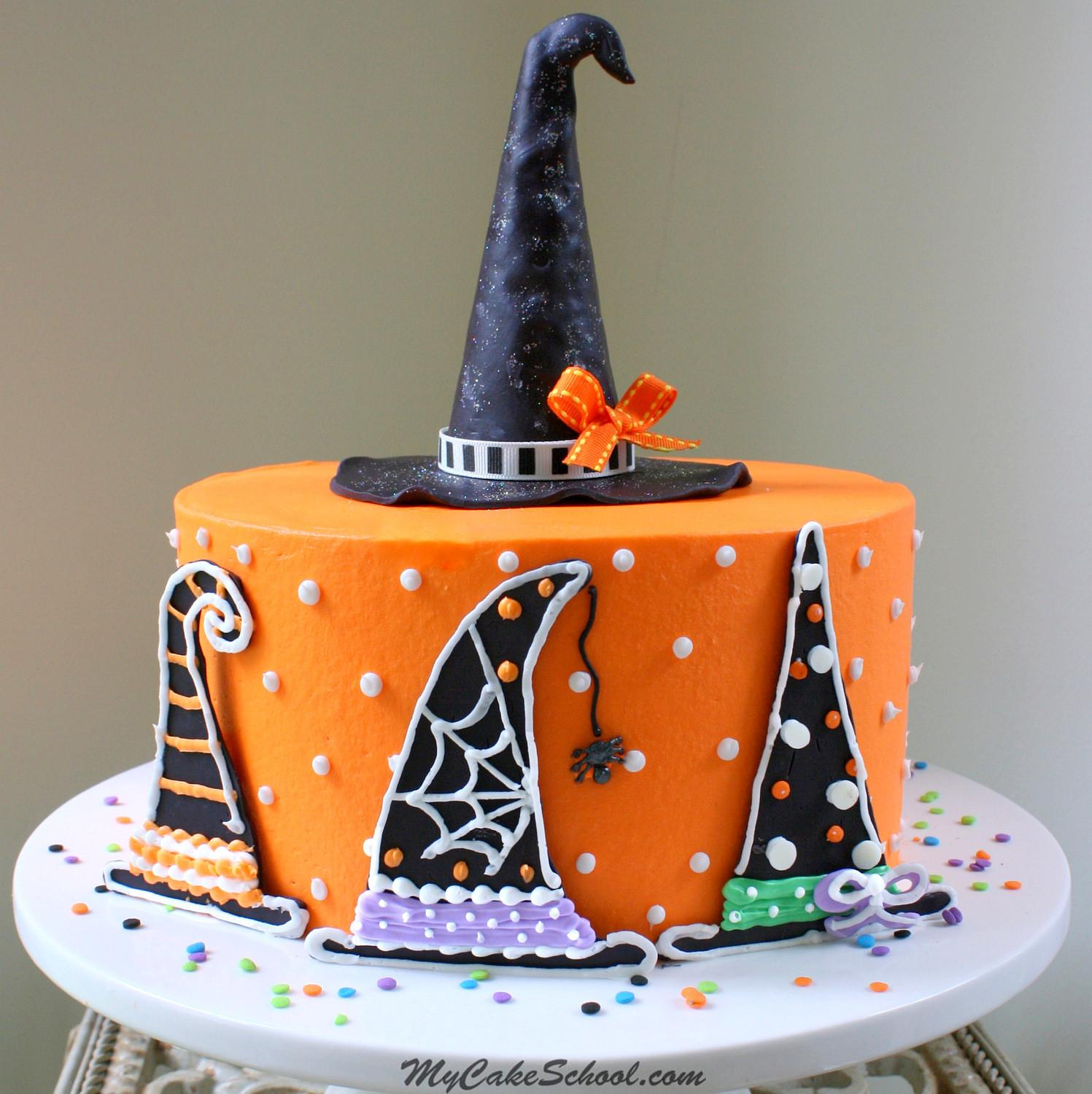 Witch Hats Halloween Cake Decorating Tutorial