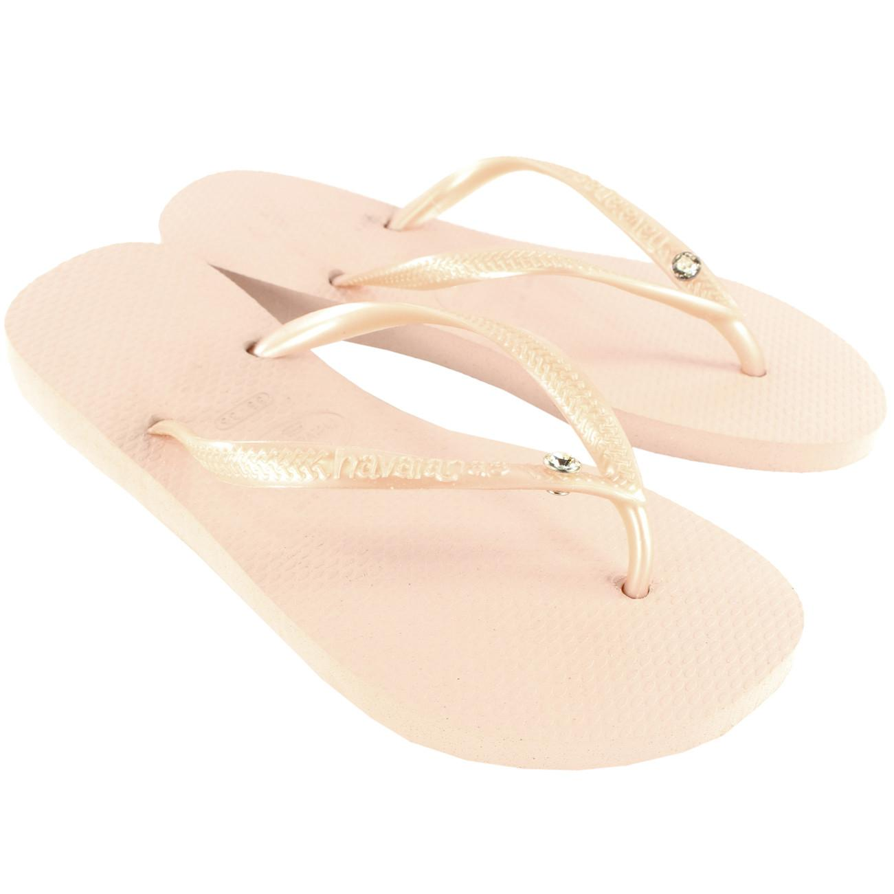 Womens Havaianas Glamour Diamante Flip Flop Beach Holiday