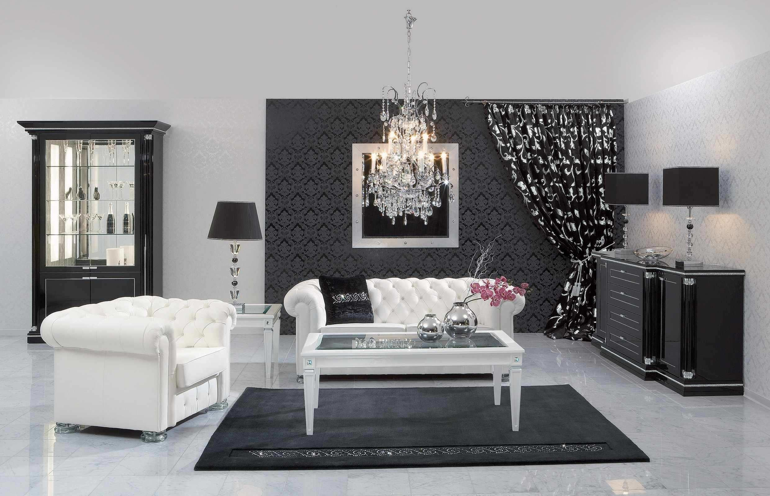 Wonderful Black White Living Room Designs Cool