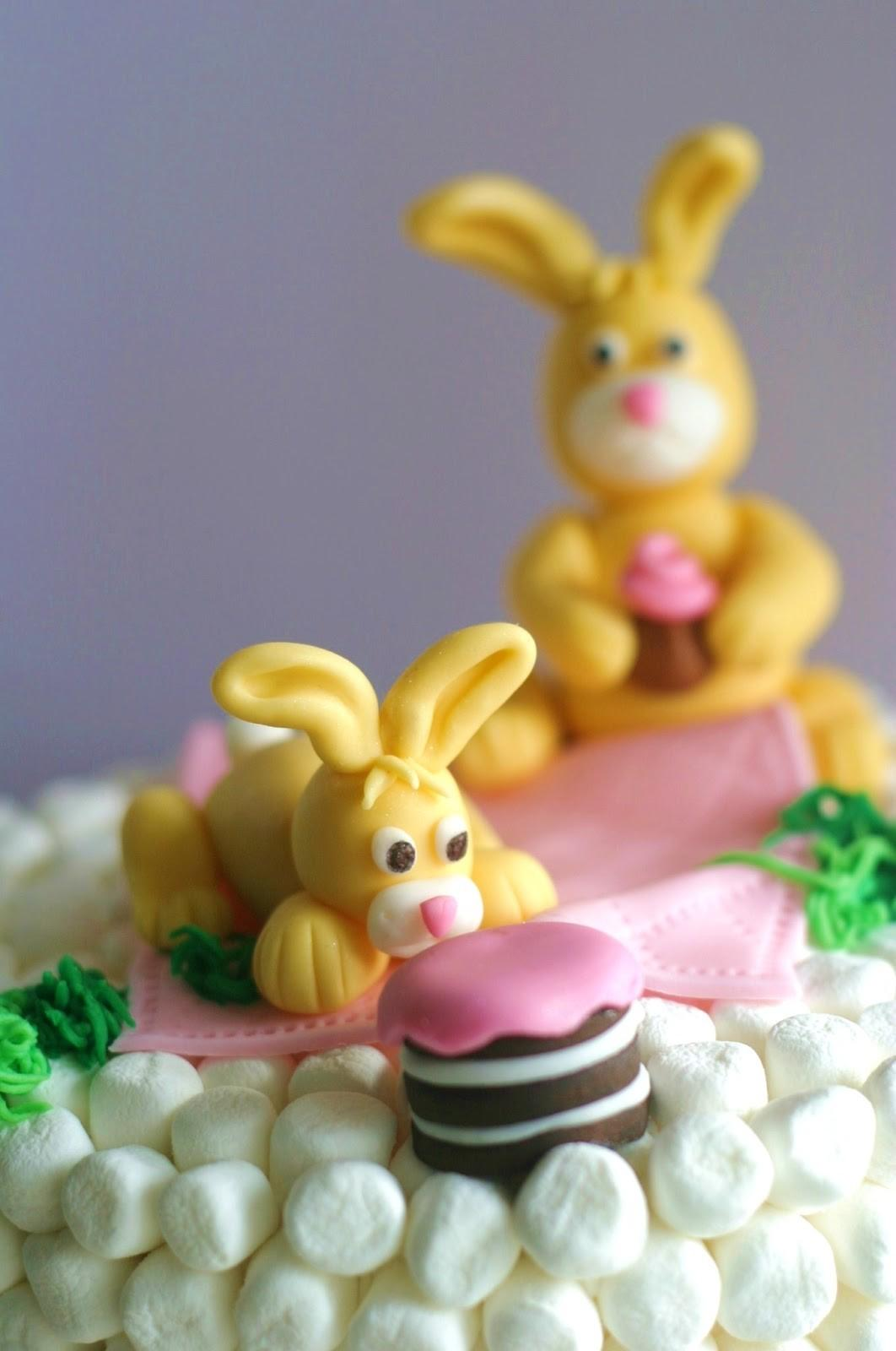 Wonderful Diy Easter Marshmallow Bunny Cake