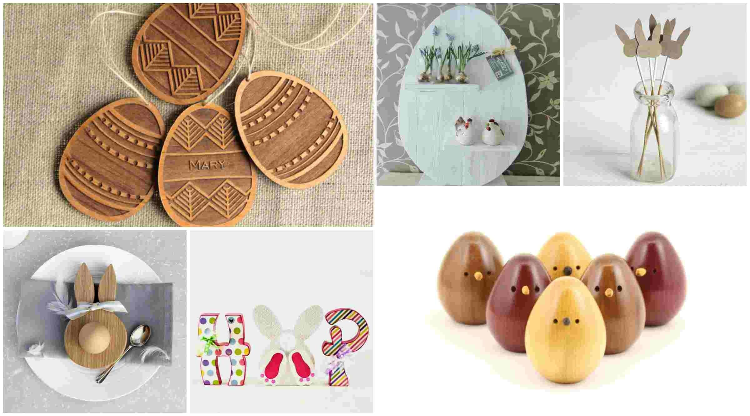 Wonderful Easter Decorations Made Wood Desired Home
