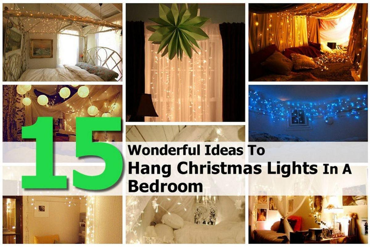 Wonderful Ideas Hang Christmas Lights Bedroom