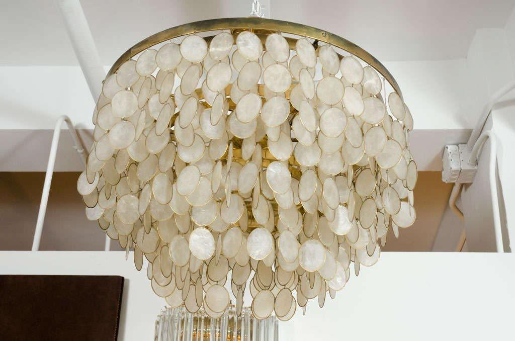 Wonderful Kitchen Awesome Capiz Shell Pendant Light Modern