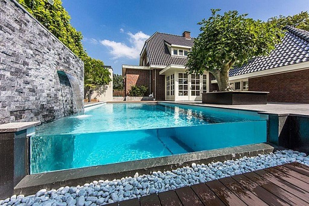 Wonderful Transparent Frame Outdoor Swimming Pool