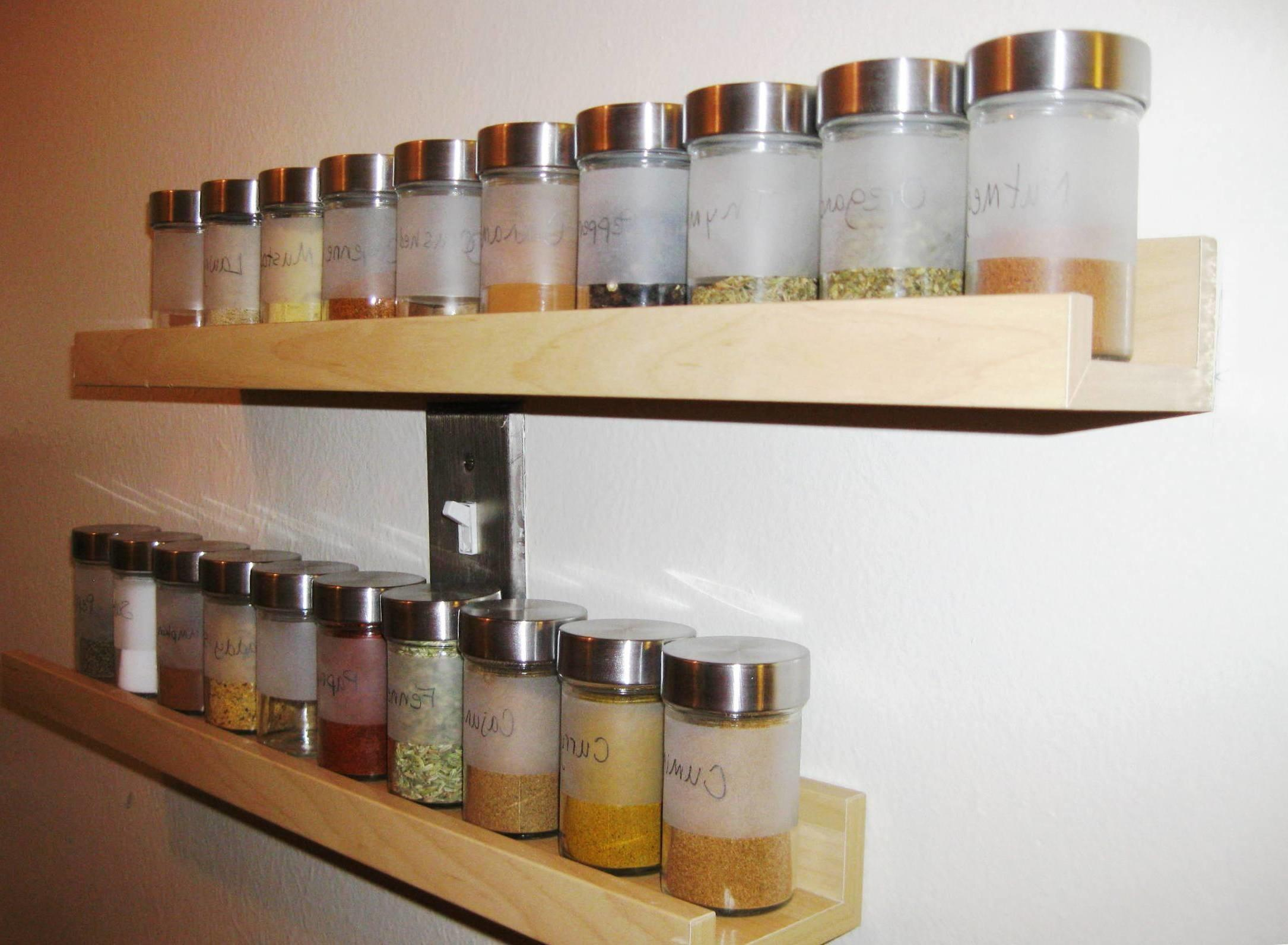 Wonderful Wall Hanging Spice Racks Bring Tidy Look Your