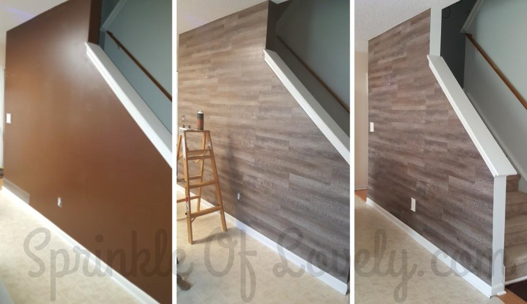 Wood Accent Wall Frugal Diy Sprinkle Lovely