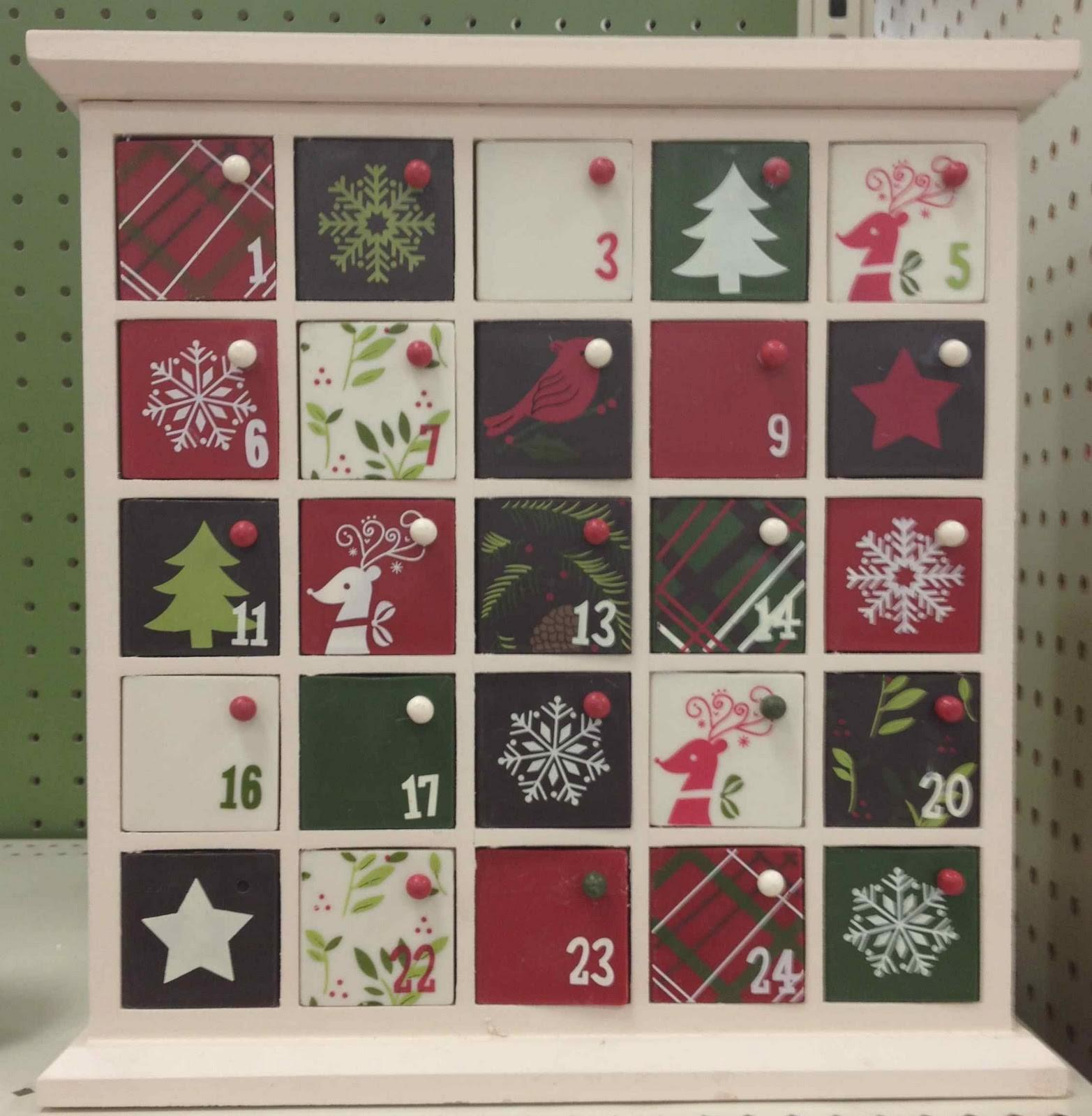 Wood Advent Calendar Template 2016