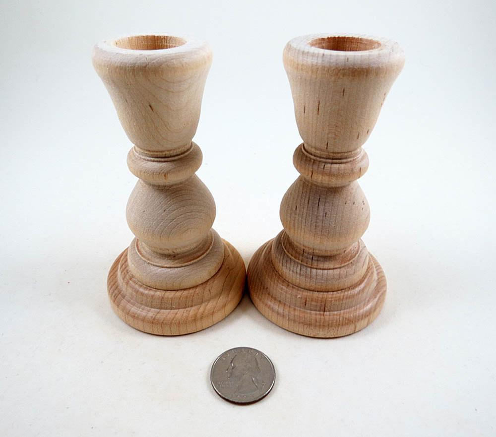 Wood Candle Holders Candlesticks Diy Wedding