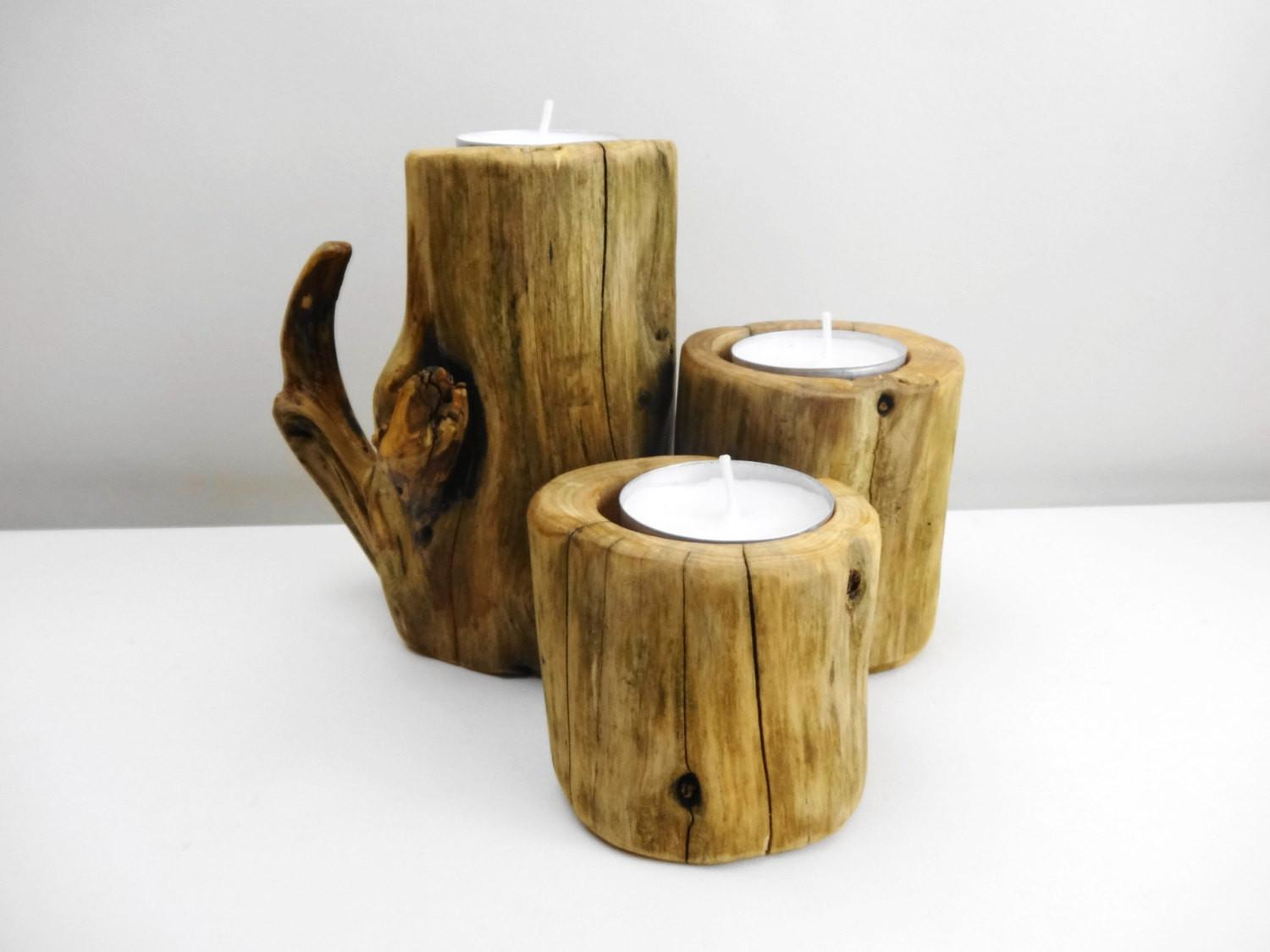 Wood Candle Holders Wooden Holder Branch