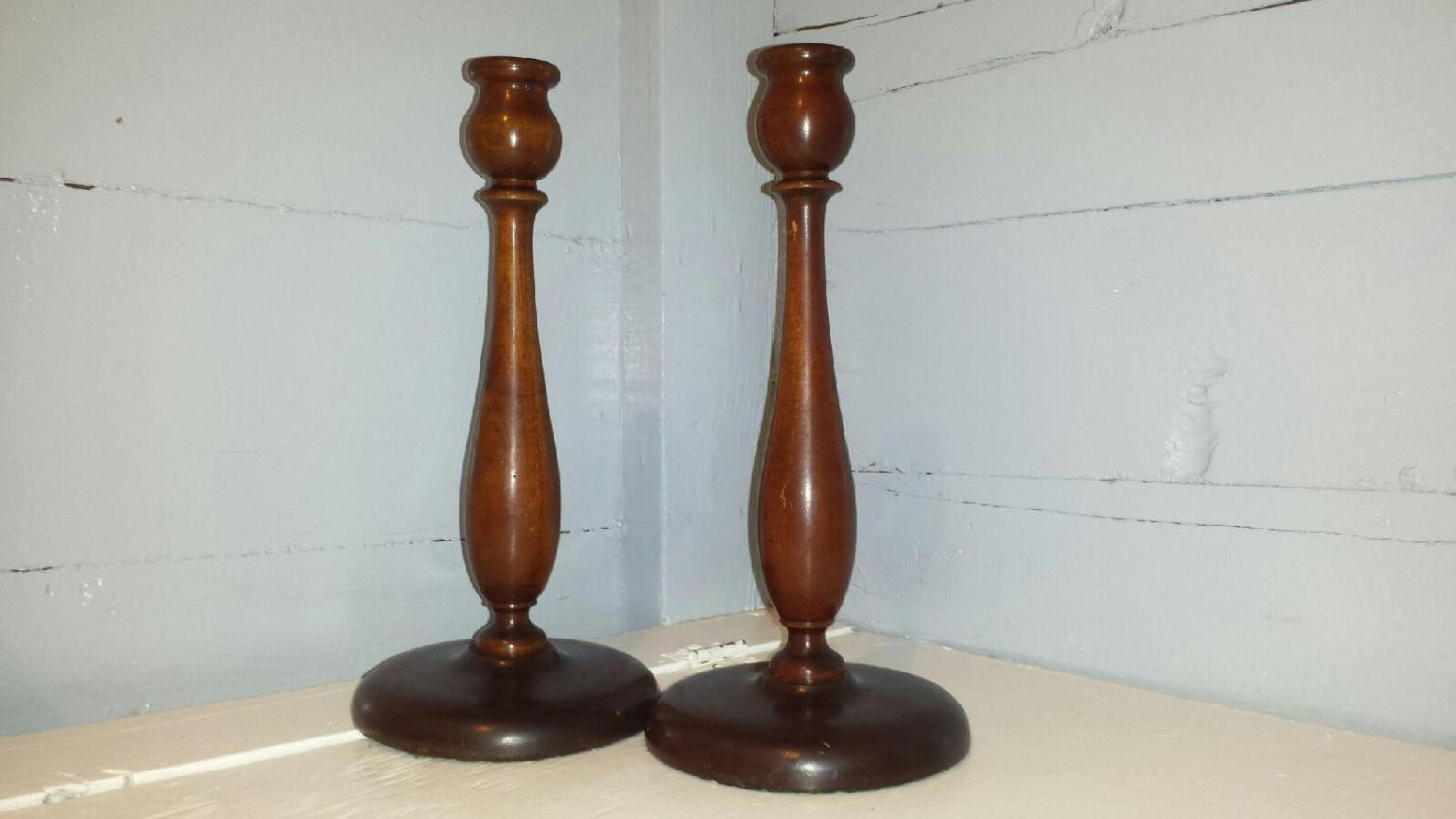 Wood Candle Stick Holders Holder