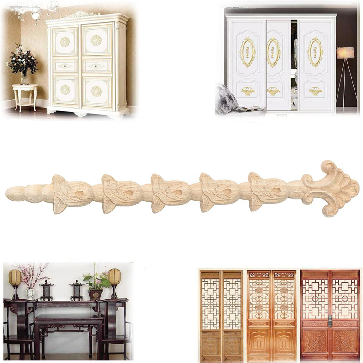 Wood Carving Applique Corner Onlay Unpainted Frame Decal