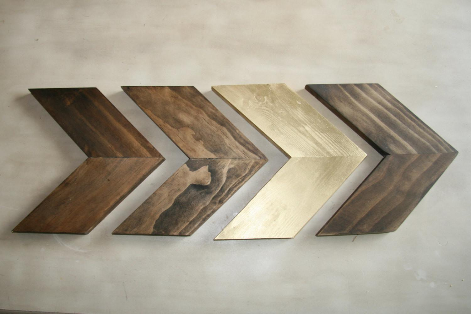 Wood Chevron Arrows Arrow Wall Art Home Decor