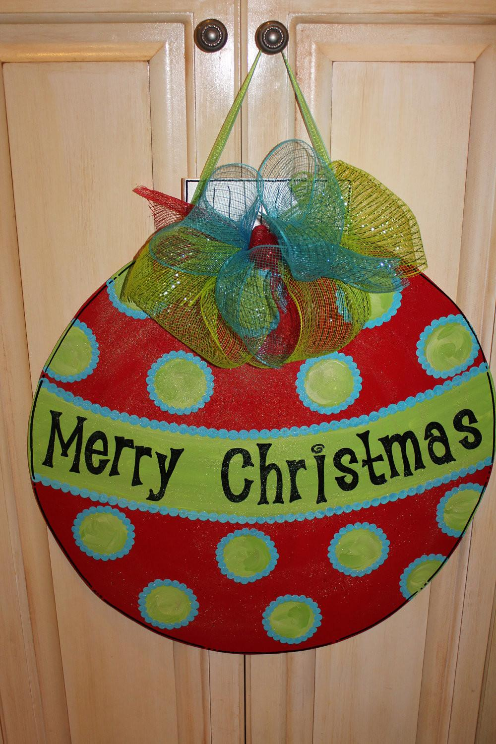 Wood Christmas Ornament Door Hanger Asoutherncreation