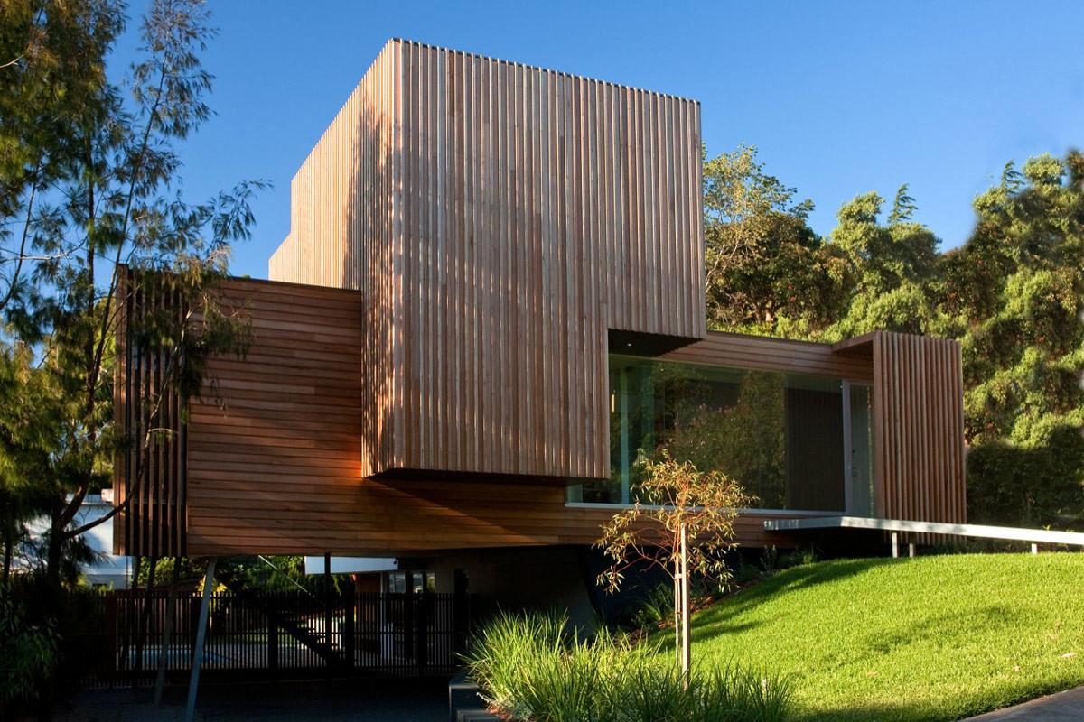 Wood Cladding Kew House Melbourne