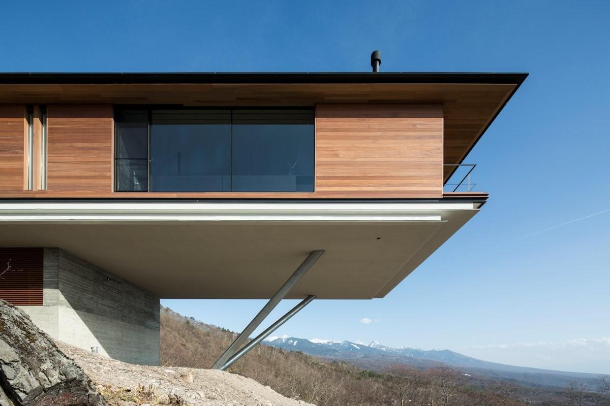 Wood Cladding Mountain House Nagano Japan