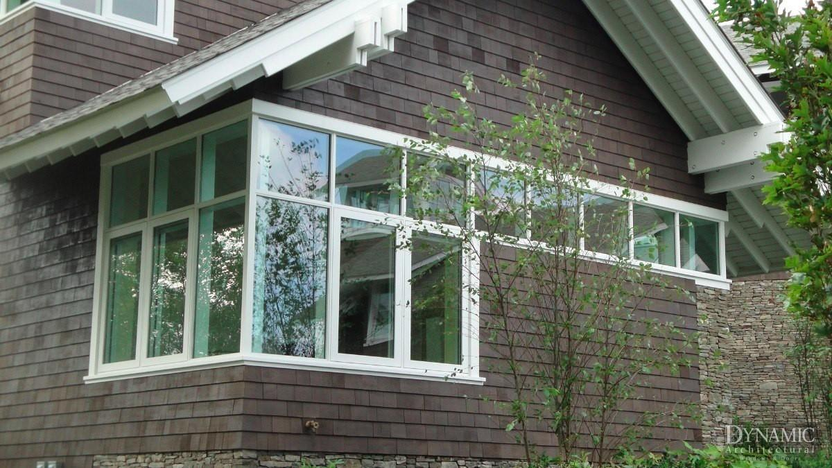 Wood Corner Windows Dynamic Architectural Doors