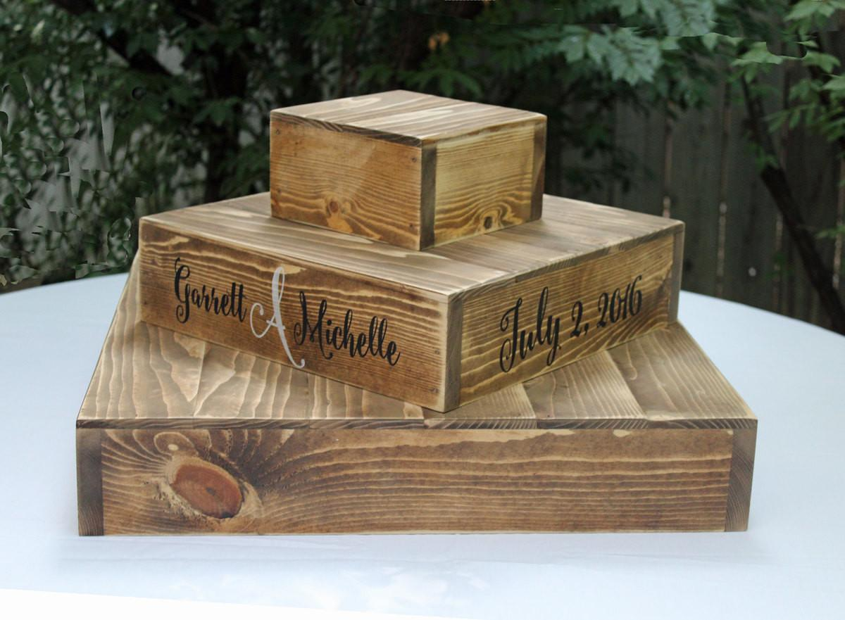 Wood Cupcake Stand Rustic Wooden Wedding Cake