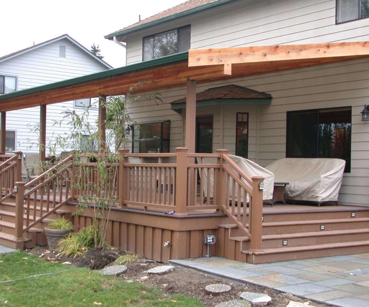 Wood Deck Cover Ideas Smartly Home Designing