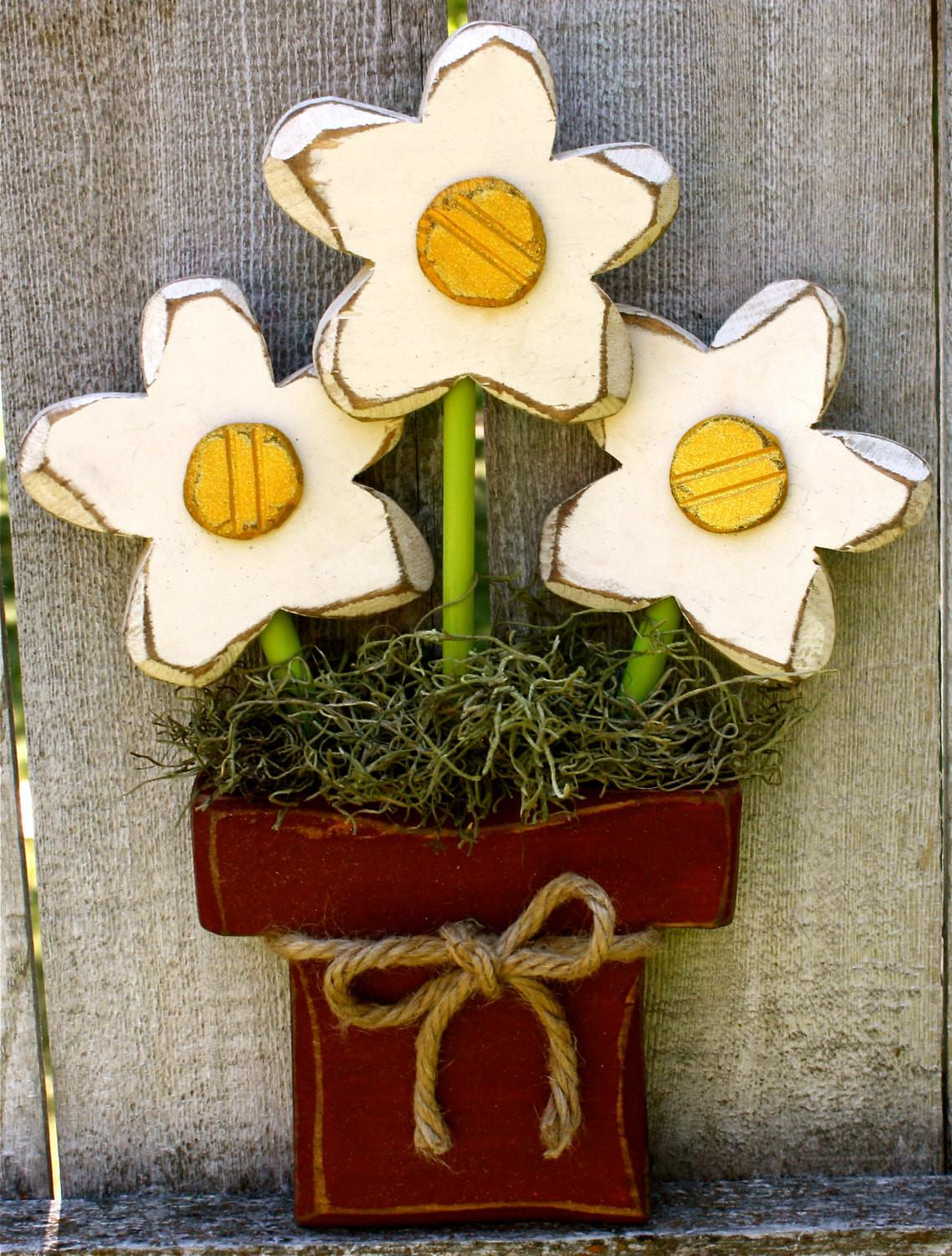 Wood Flowers Wooden Mother Day Gift