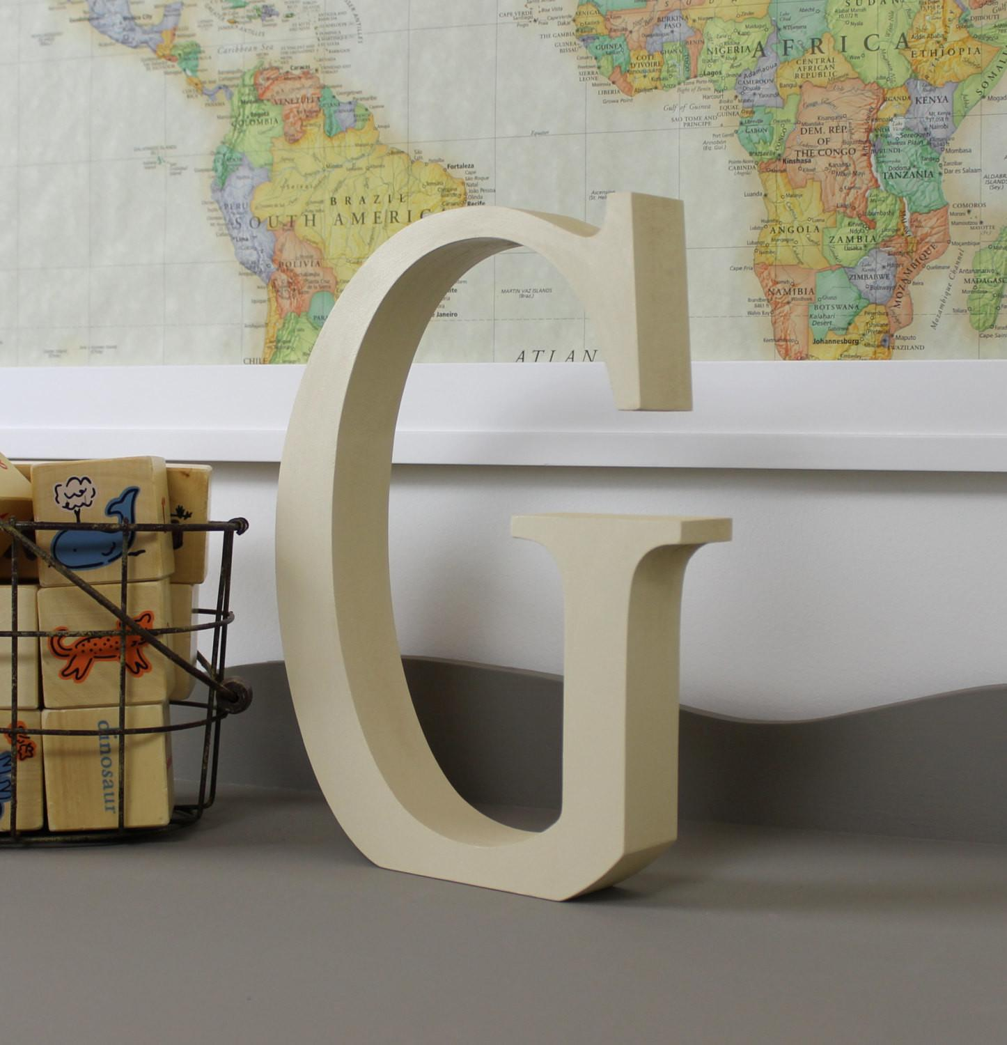 Wood Letter Standing Wooden Letters Alphabet Decor