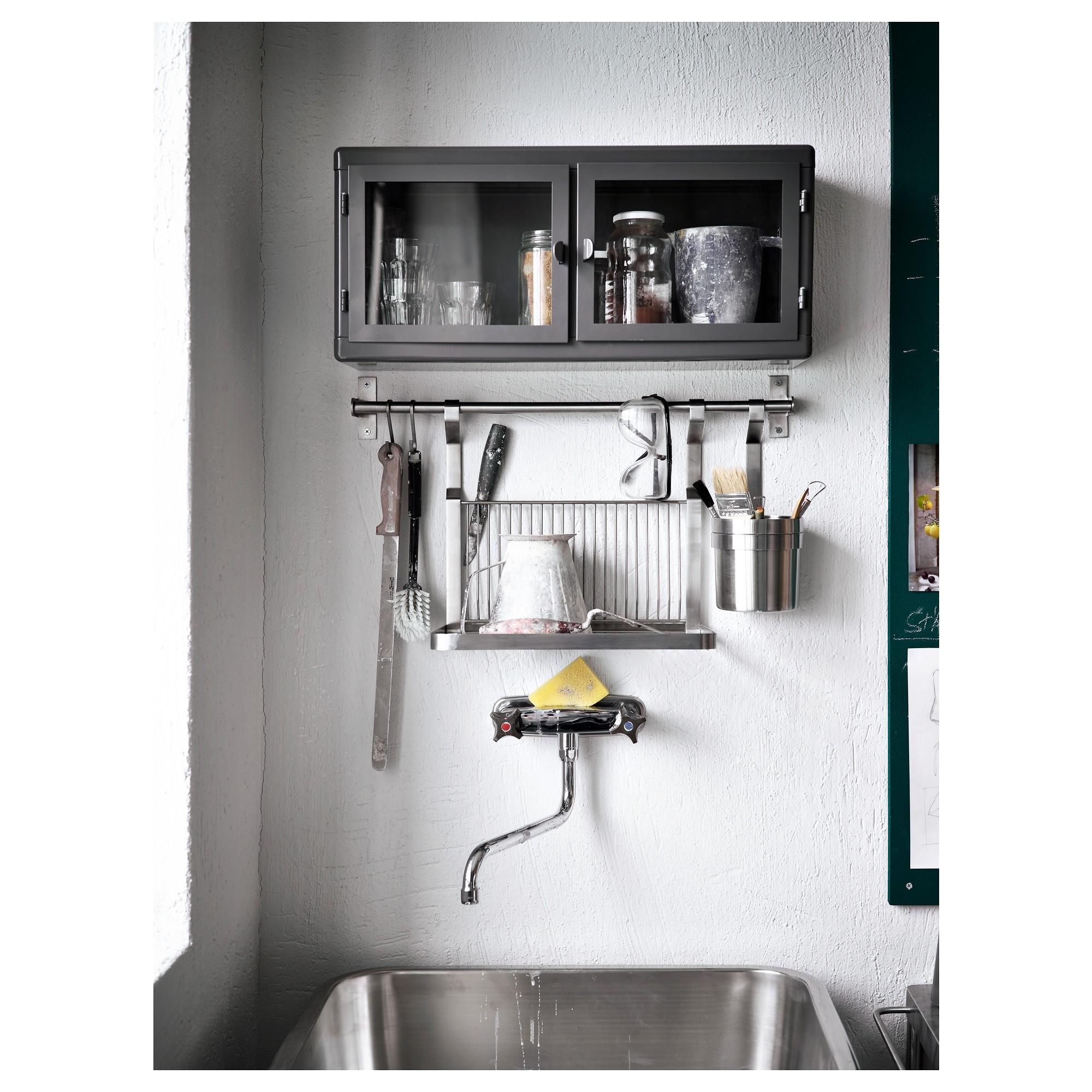 Wood Metal Tiered Shelves Combined White Oven Stove