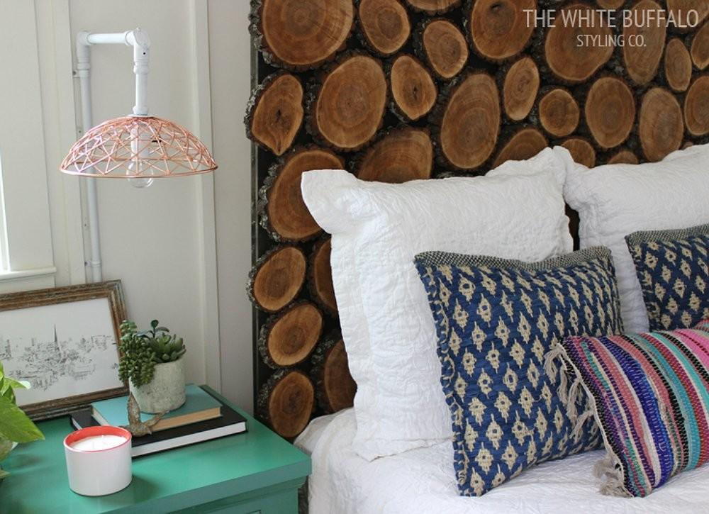 Wood Slice Headboard Make Diy