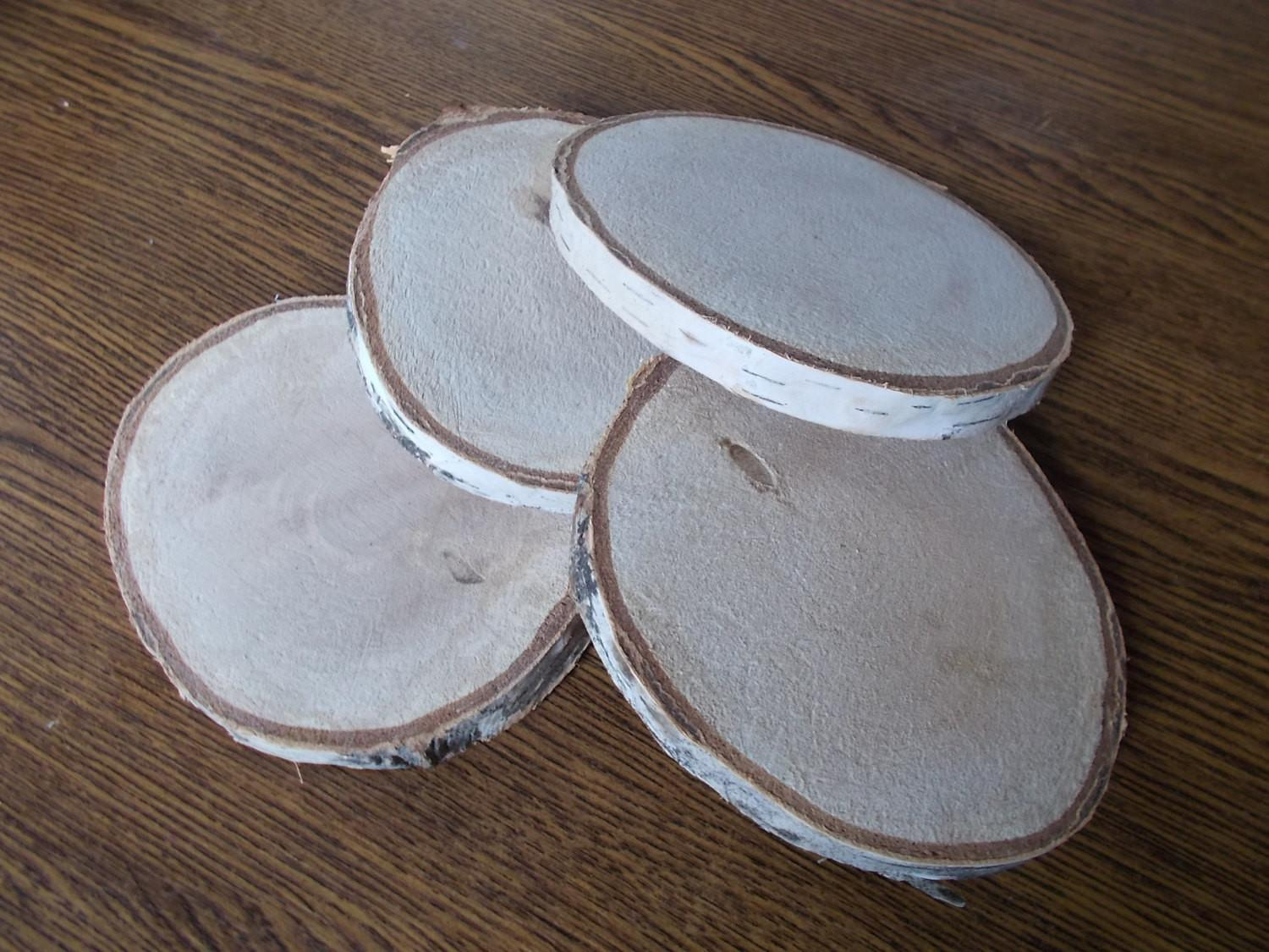 Wood Slices Birch Table Decor