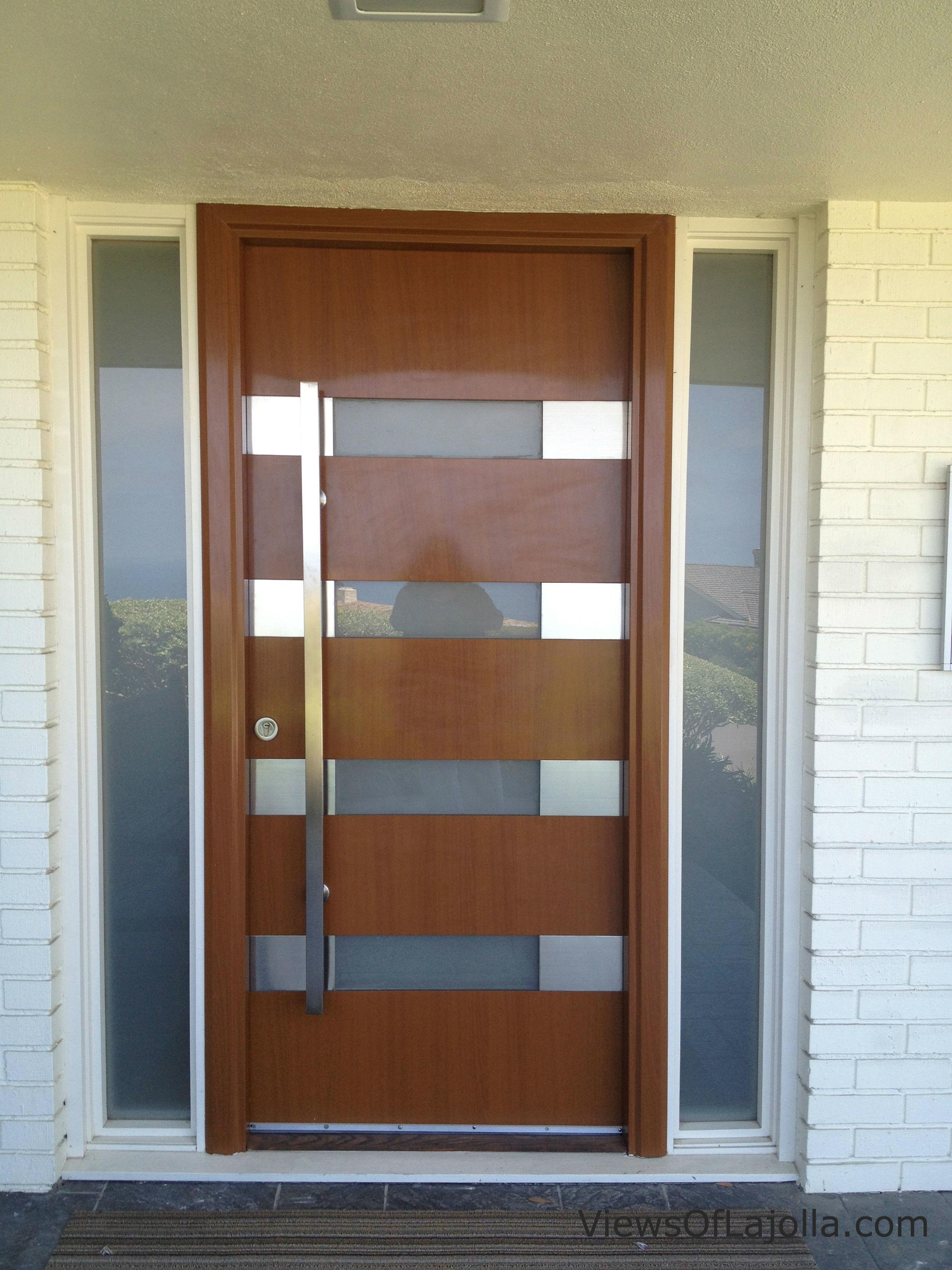 Wood Steel Contemporary Door Jolla Doors Gates