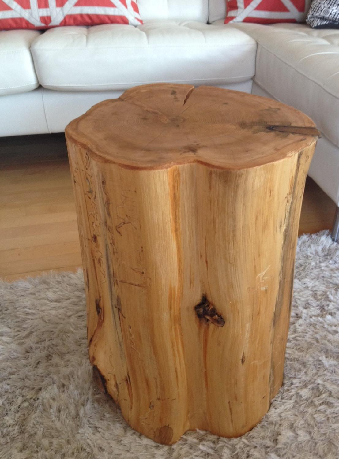 Wood Stump Side Tables End Coffee Reclaimed