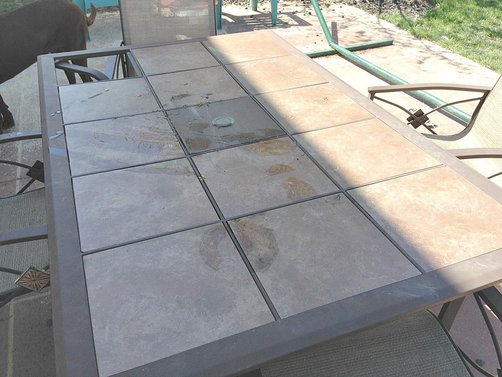 Wood Tile Topped Diy Patio Table Reinvented