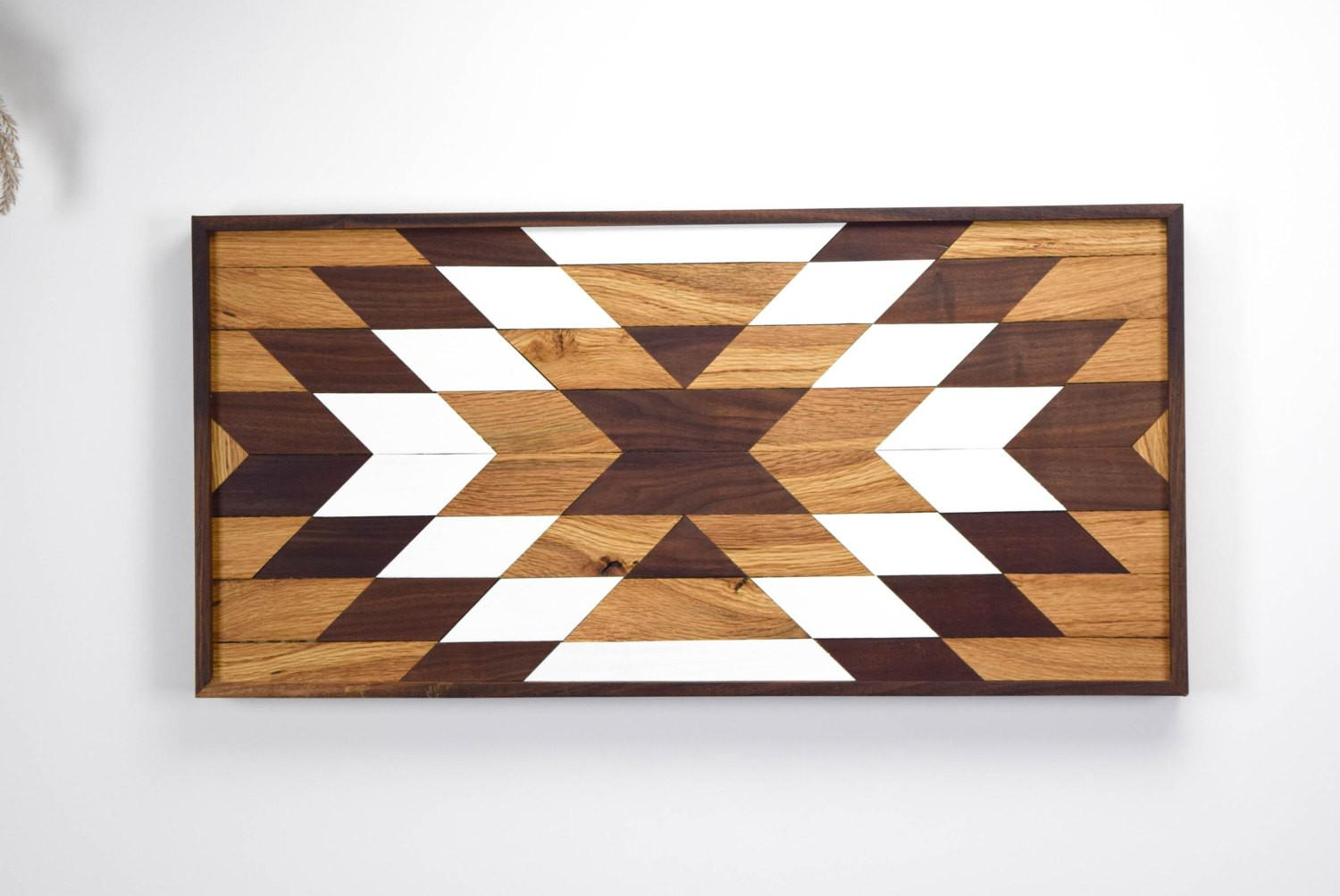 Wood Wall Art Wooden Geometric
