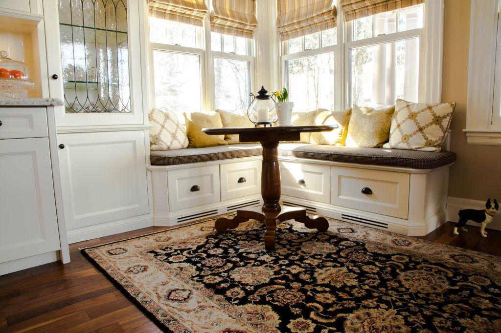 Woodecor Custom Painted Kitchen Banquette