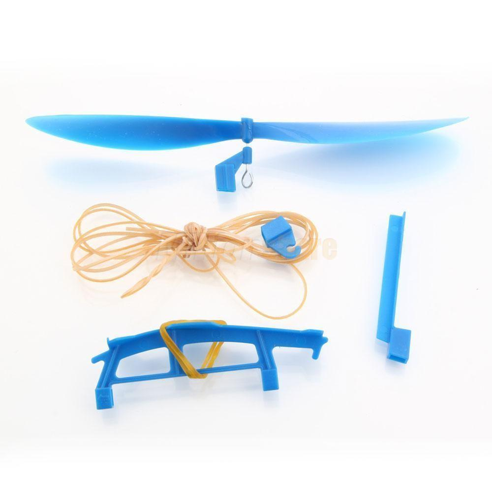 Wooden Balsa Airplanes Rubber Band Retro Model Toy Plane