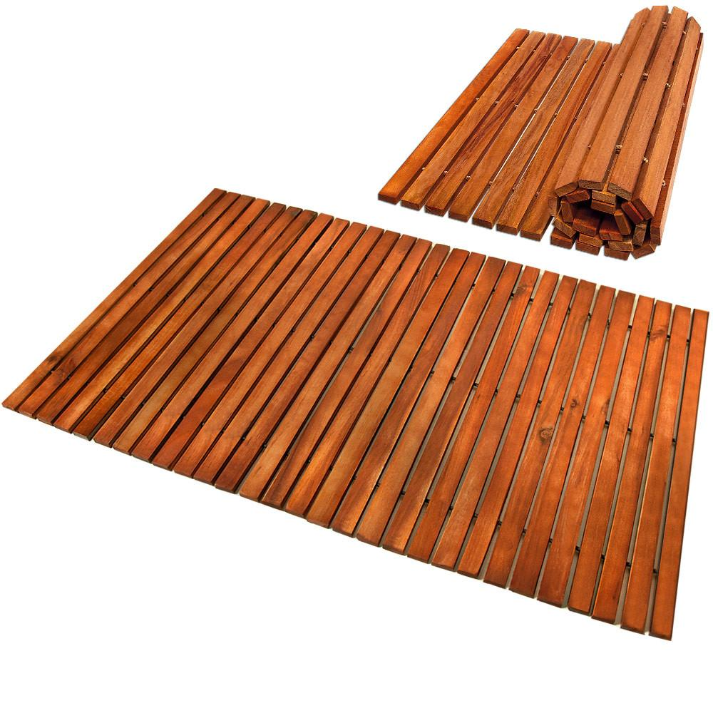 Wooden Bath Mat Duckboard Shower Mats Non Slip Hardwood