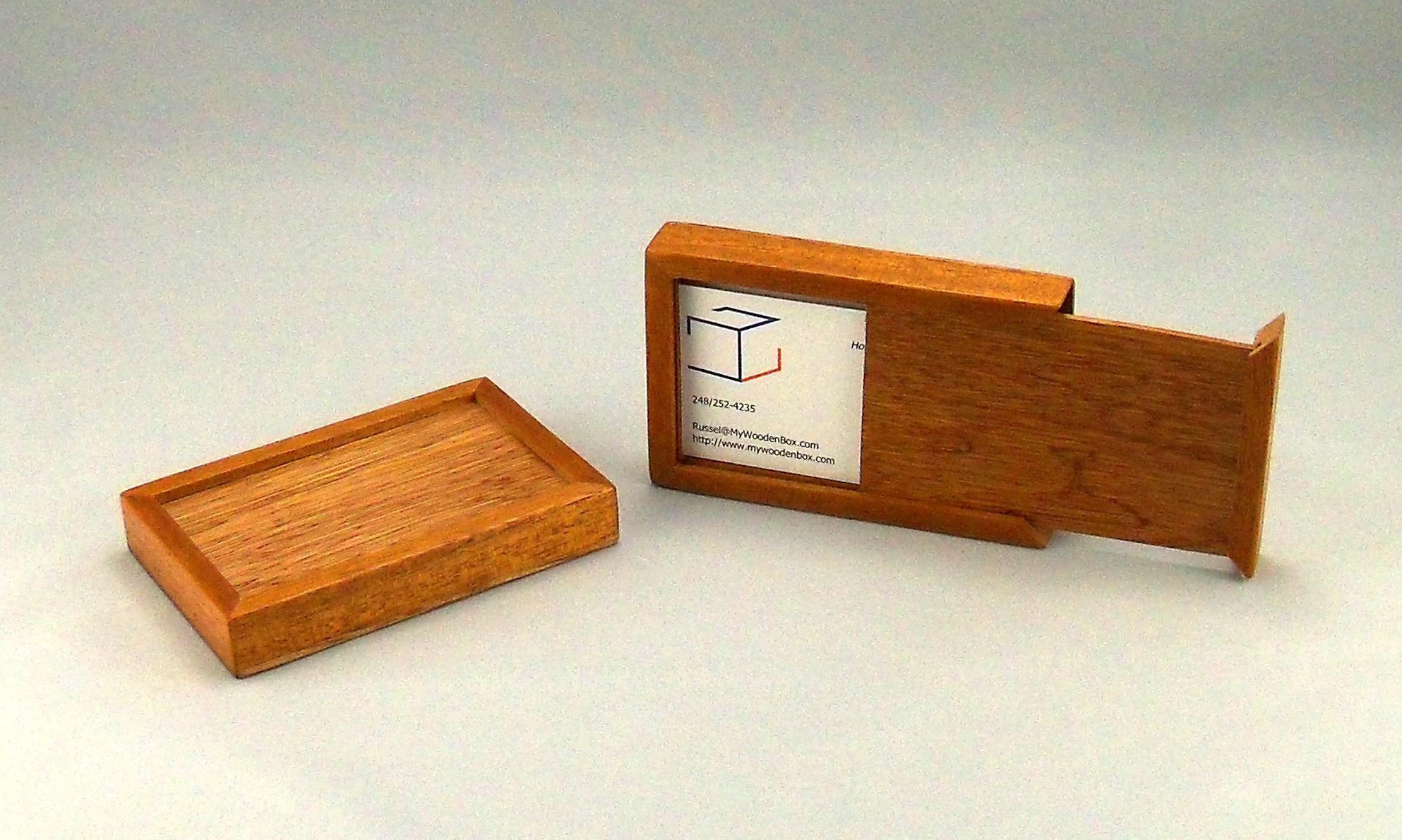 Wooden Box Business Card Holder Best Cards