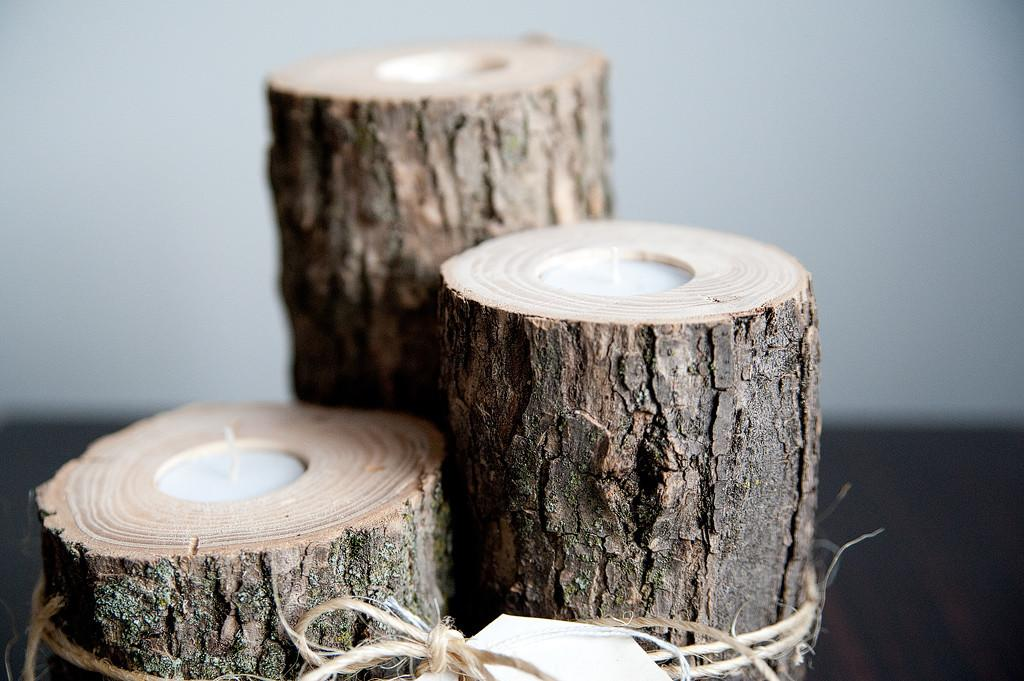 Wooden Candle Holders Three Fifteen Design
