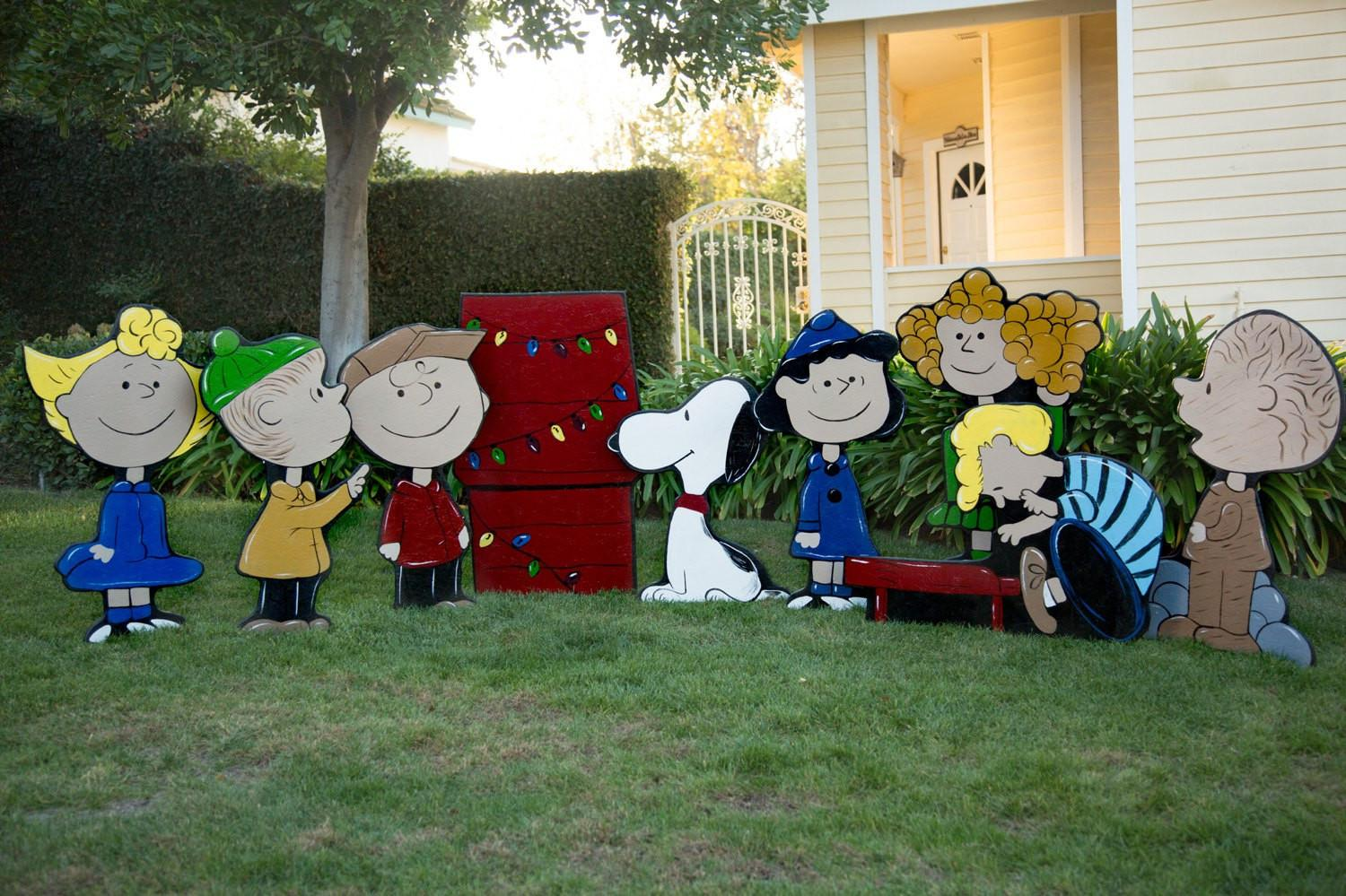 Wooden Charlie Brown Christmas Yard Decorations Patterns