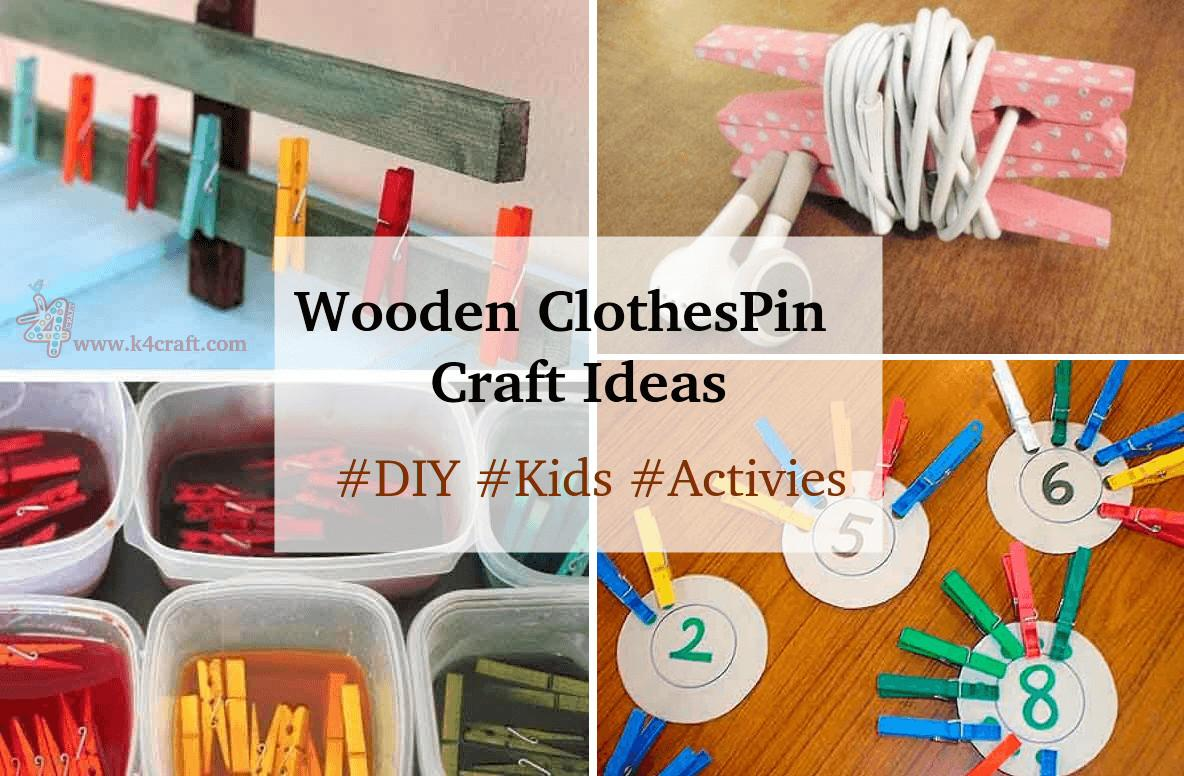 Wooden Clothespin Crafts Activities Ideas Craft