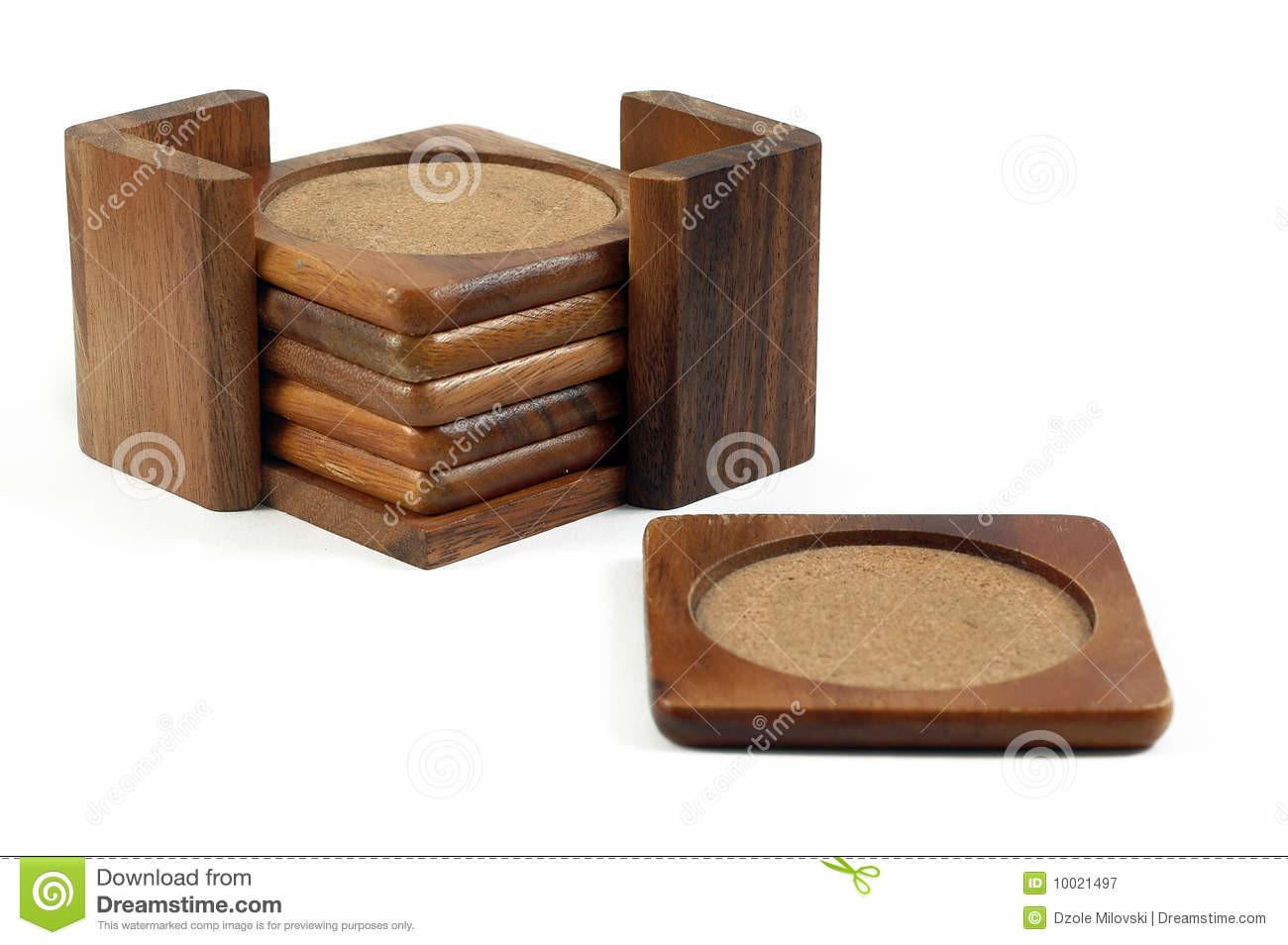 Wooden Coasters Stock Clipping Decorative