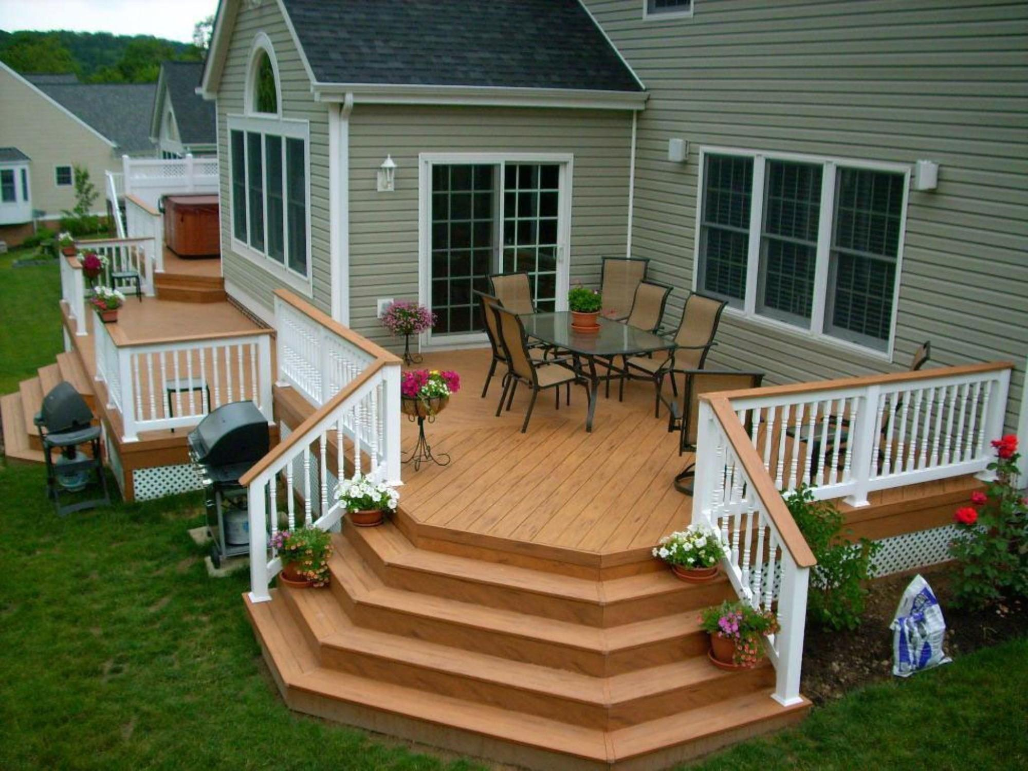 Wooden Deck Design Ideas Classic Fence Square