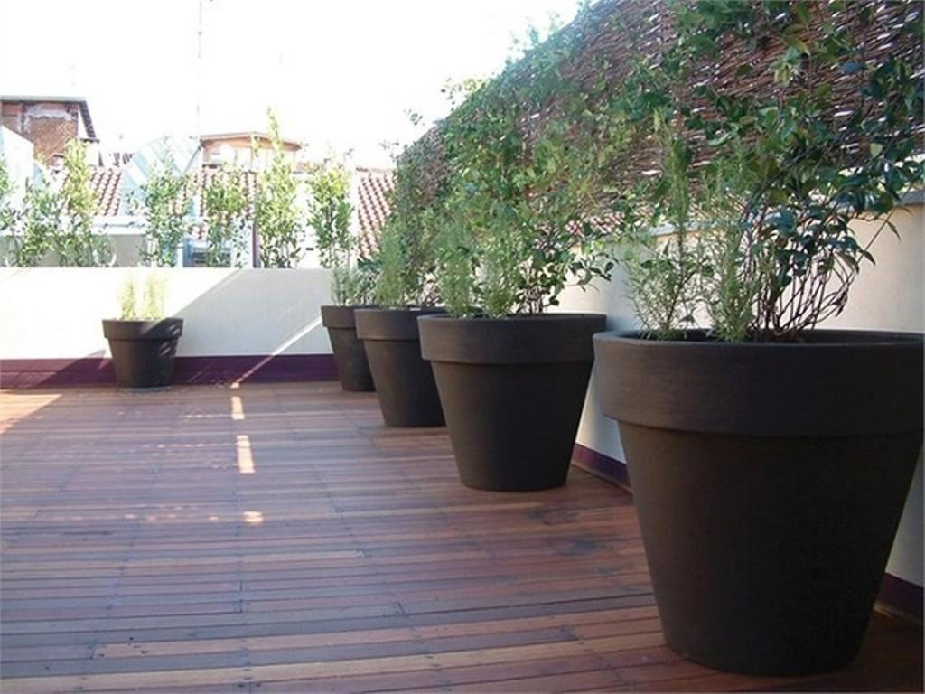 Wooden Deck Modern Outdoor Planters Simple Garden