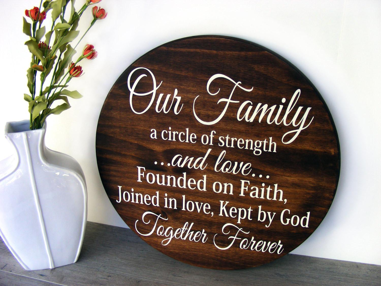 Wooden Family Sign Mothers Day Gift Wood Signs Sayings