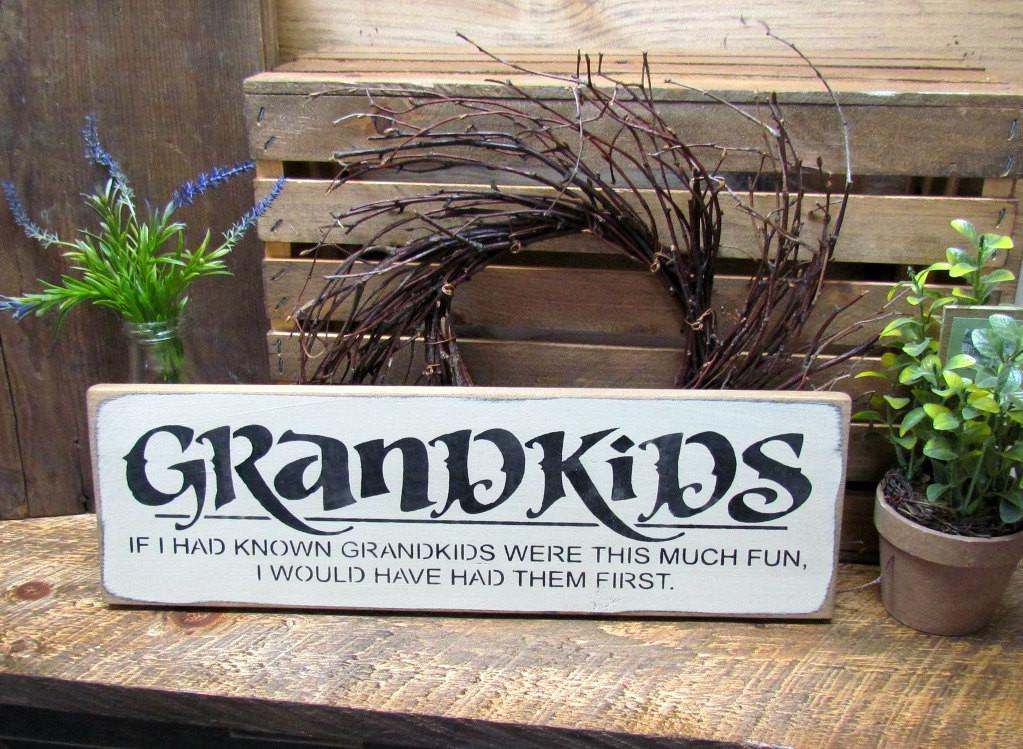 Wooden Grandparent Sign Gift Mothers Day Grammy