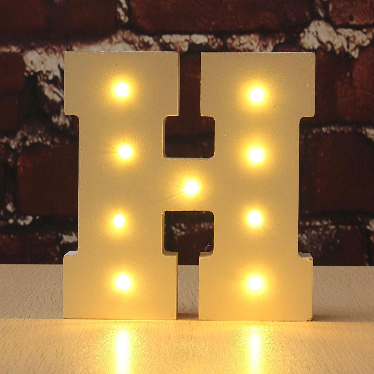 Wooden Led Marquee Letter Lights Vintage Circus Style