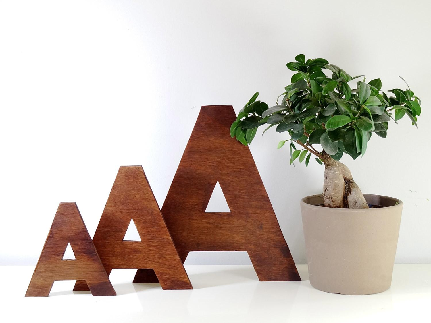 Wooden Letters Decorative Wall Decor