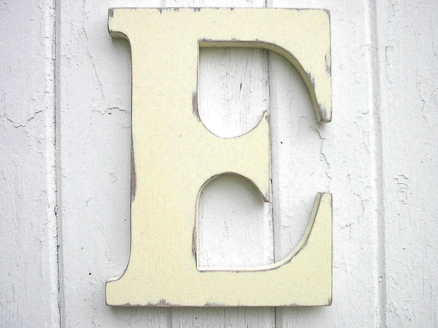 Wooden Letters Initial Inch Antique White Kids Wall Decor