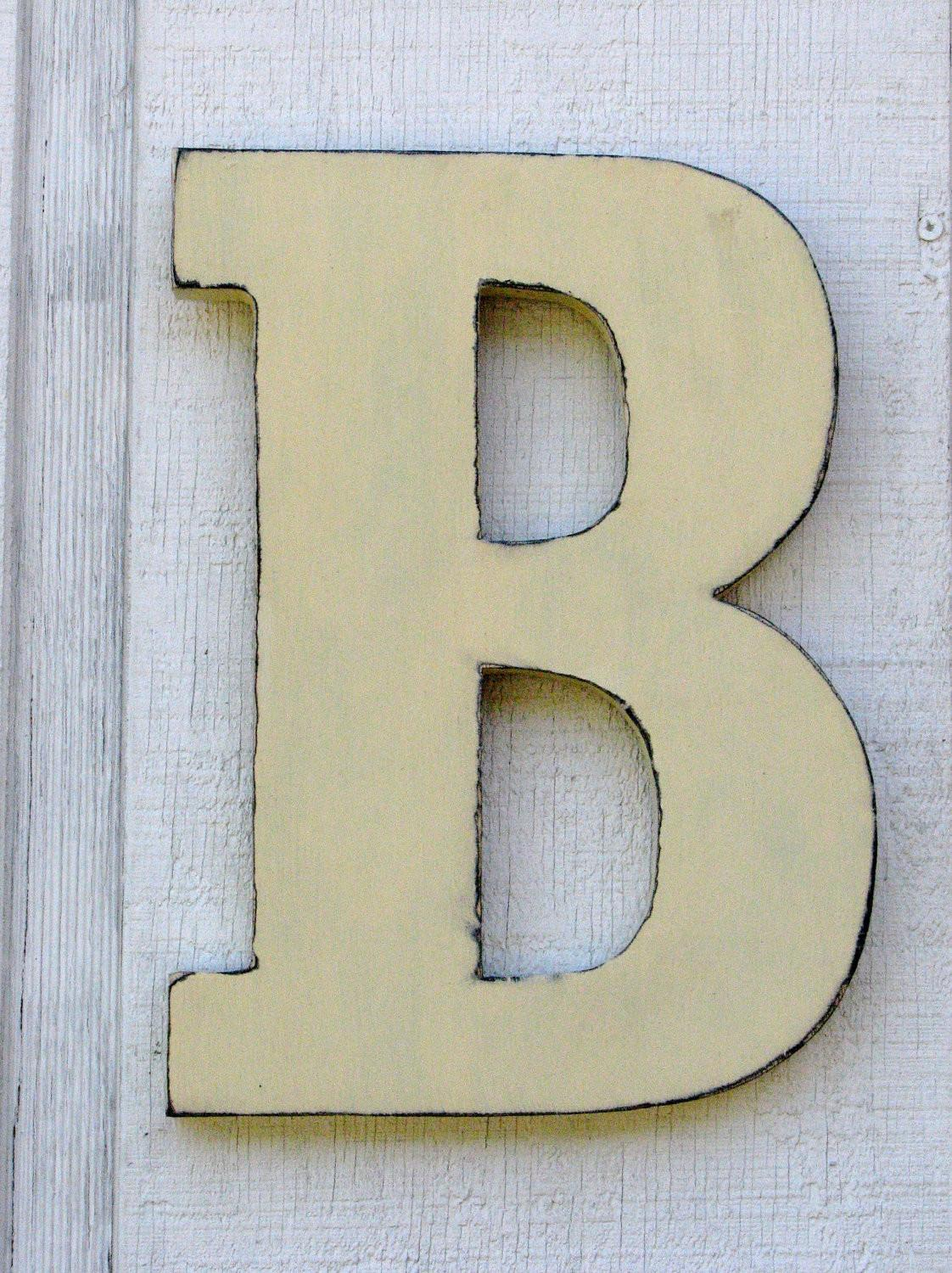 Wooden Letters Rustic Letter Home Decor Distressed Painted