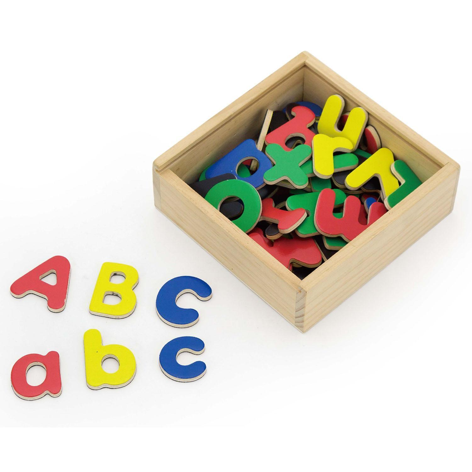 Wooden Magnetic Fridge Letters Piece Childrens Kids