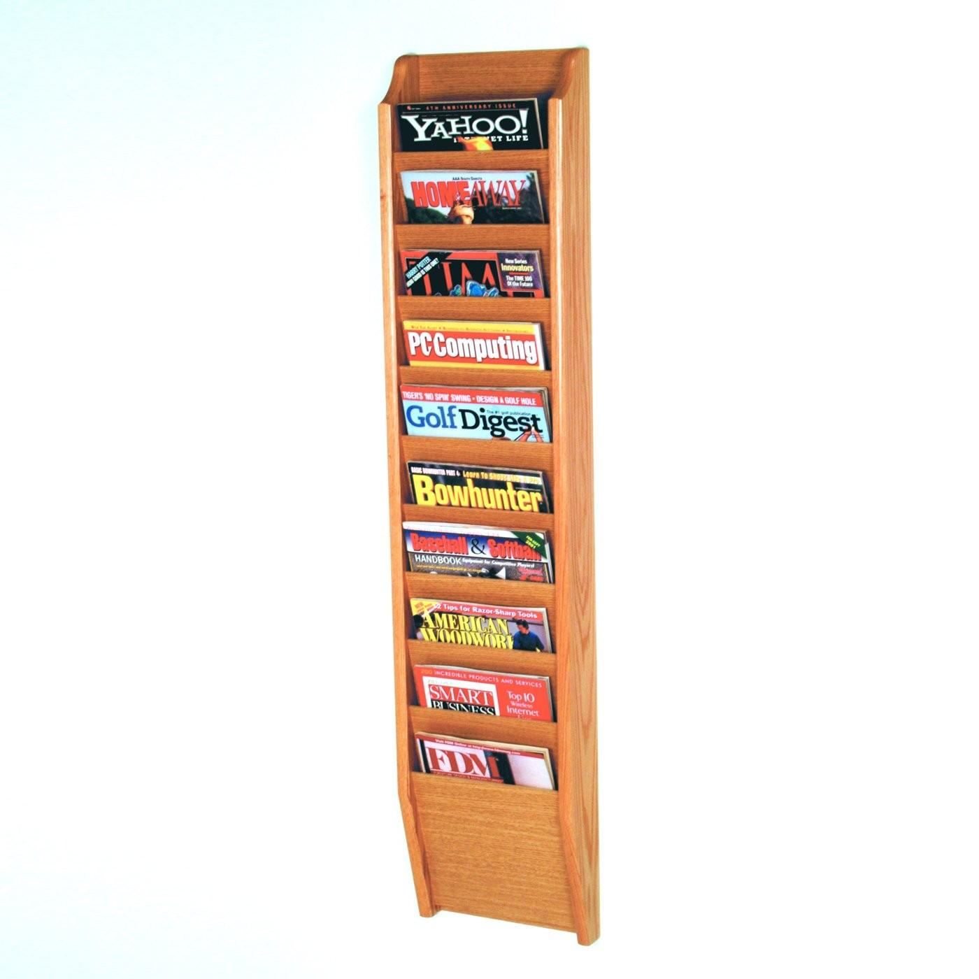 Wooden Mallet Mr48 Wall Mount Magazine Rack Atg Stores
